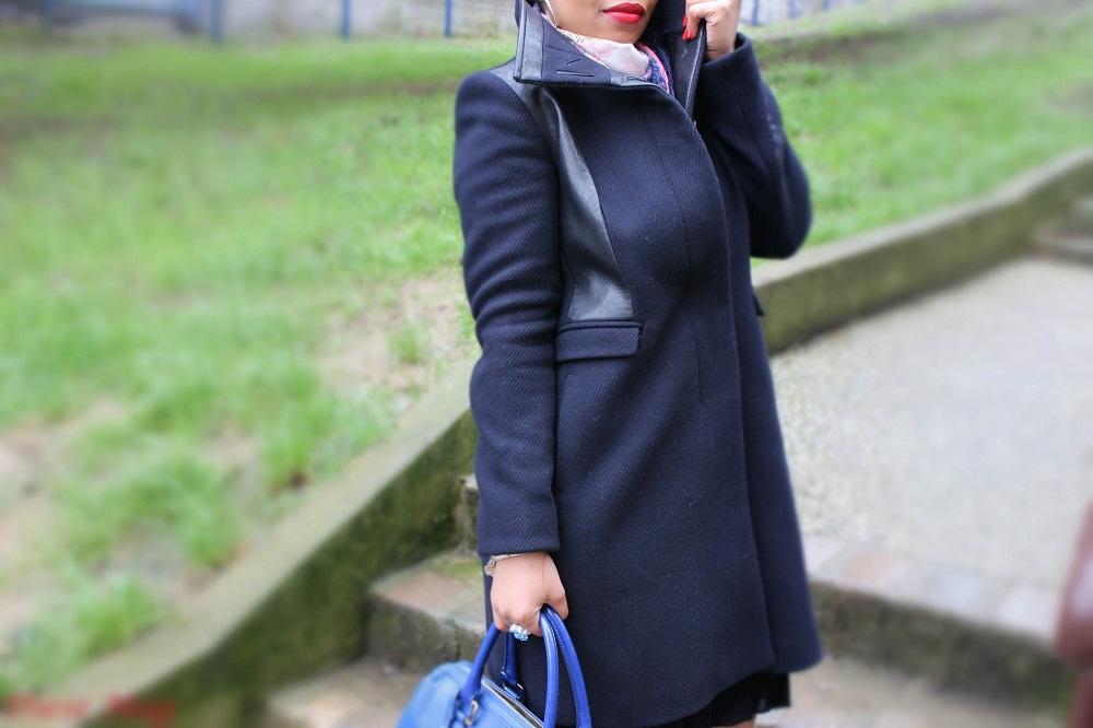 Manteau bi-matière